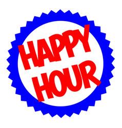 Happy hour typographic stamp vector