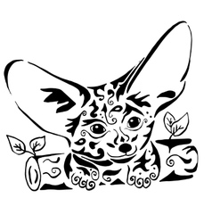 Hiqih quality fenech coloring or tattoo vector