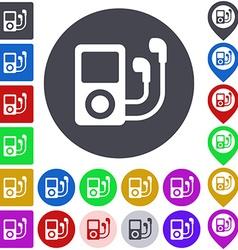 Ipod icon set vector