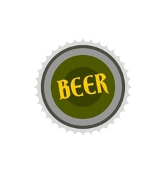 Label for beer icon flat style vector image
