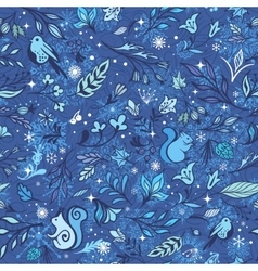 Magic Winter Forest Pattern vector image vector image