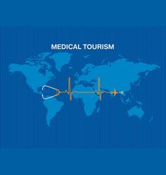 medical tourism background vector image