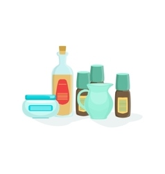Natural cosmetics and skincare product line vector