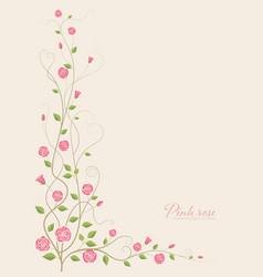 pink rose flower vector image