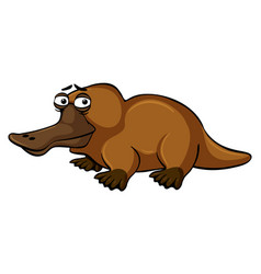 Platypus with sad face vector