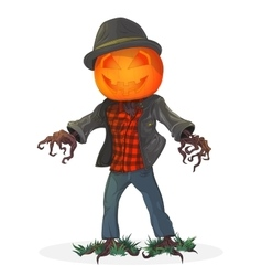 Pumpkin scarecrow for the holiday vector