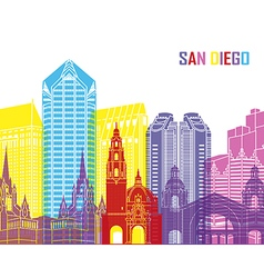 San diego skyline pop vector