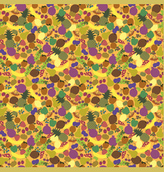 seamless pattern fruits nice bright color vector image