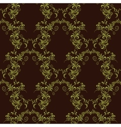 Seamless pattern ornament on black background vector image