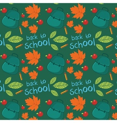 Seamless pattern with set of different school vector image vector image