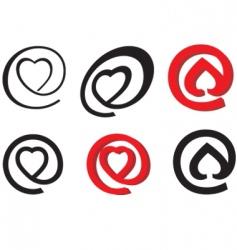 valentine mail symbol vector image vector image