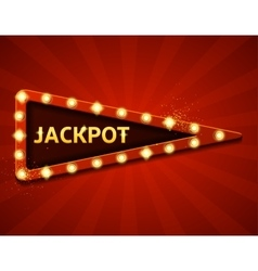 Jackpot retro banners with glowing lamps vector