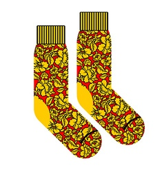 Socks for patriot of russia clothing accessory vector