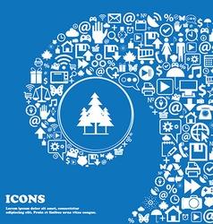 christmas tree icon Nice set of beautiful icons vector image