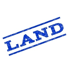 Land watermark stamp vector