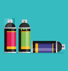 Spray paint can flat vector