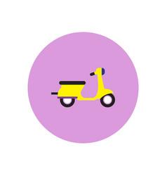 Stylish icon in color circle retro scooter vector