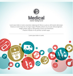 Medical treatment background vector