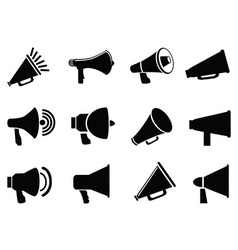 megaphone icons vector image