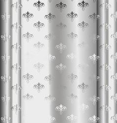 Silver Luxury Vintage Wallpaper vector image