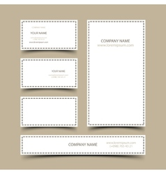 Blank business cards set vector