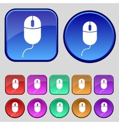 Computer mouse sign icon optical with wheel symbol vector
