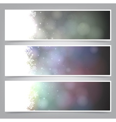 Set of abstract christmas banners vector