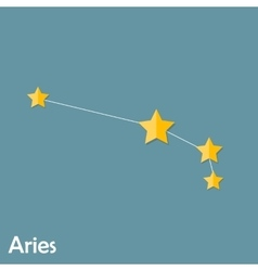 Aries zodiac sign of the beautiful bright stars vector