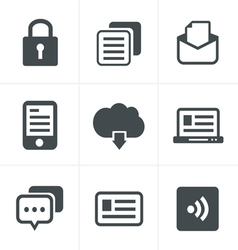 Website icons set design vector