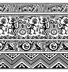Seamless pattern of african primitive art vector