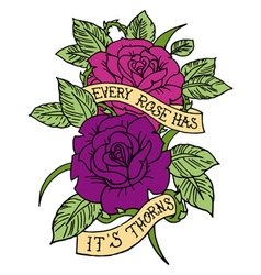 Rose tattoo design vector