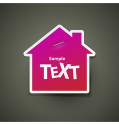 House icon sticker vector
