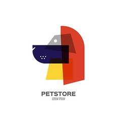 Logo with a dog vector