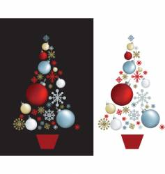 Christmas tree baubles vector image