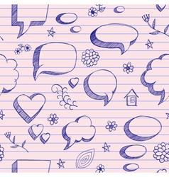 Speech bubbles skech pattern vector image