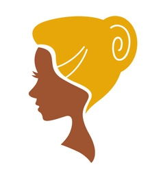 Cameo woman silhouette vector