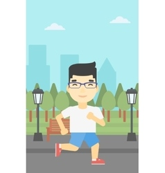 Young man running vector