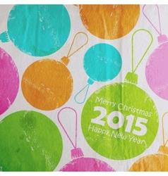 Abstract christmas multicolored watercolor balls vector