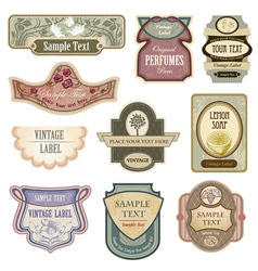 Antique lables vector image vector image