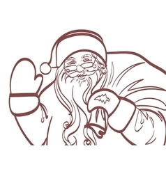 art of Santa Claus for any design Eps 10 vector image