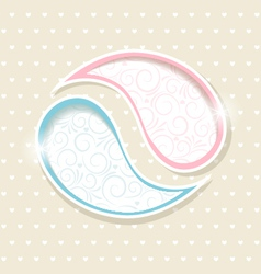 Blue and Pink Paisley frames vector image vector image