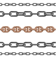 Chains link strength connection seamless vector