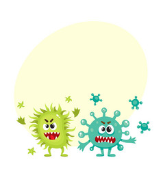 couple of virus germ bacteria microorganism vector image