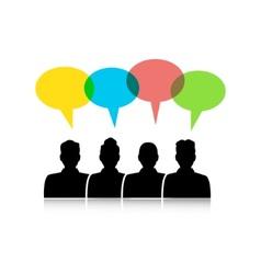 dialogue between different people vector image