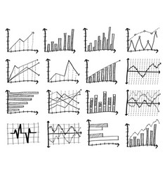 doodle finance graph eps 10 vector image