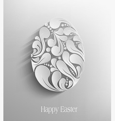 Easter egg handmade vector