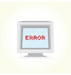 Error on computer screen vector