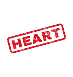 Heart text rubber stamp vector