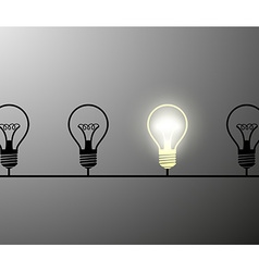 incandescent lamps Stock vector image vector image