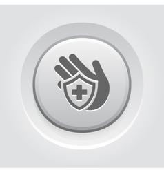 Insurance icon grey button design vector